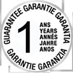 Garantie 1 an, pièces et main d'oeuvre